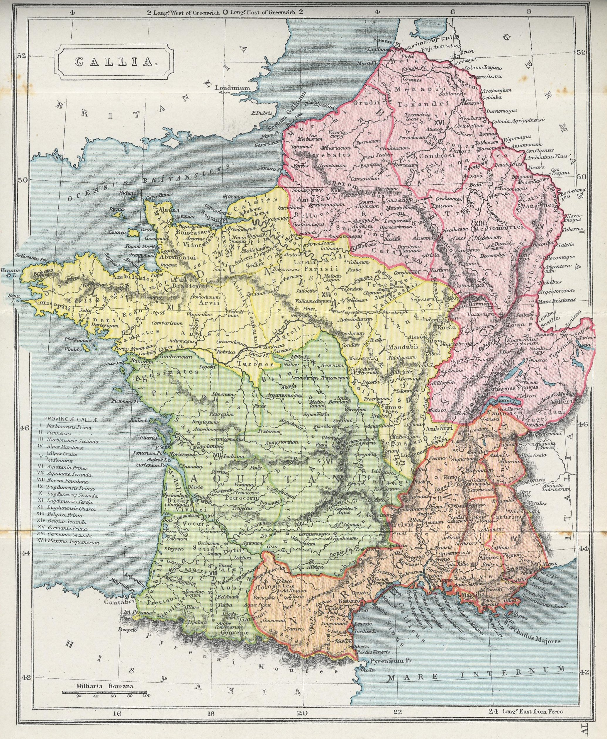 Large Scale Map Of France.Larger Map Of Gallia France